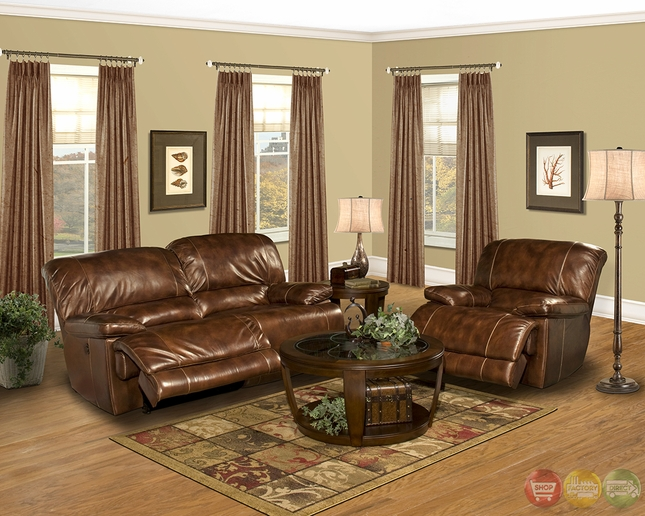 Parker Living Mars Coffee Brown Leather Reclining Sofa Set MMAR#822P-CO