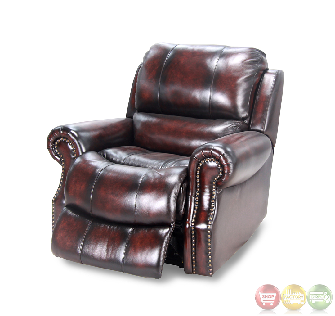 Wustrow Umber Italian Leather Power Reclining Sofa: Parker Living Midas Burnt Umber Distressed Leather
