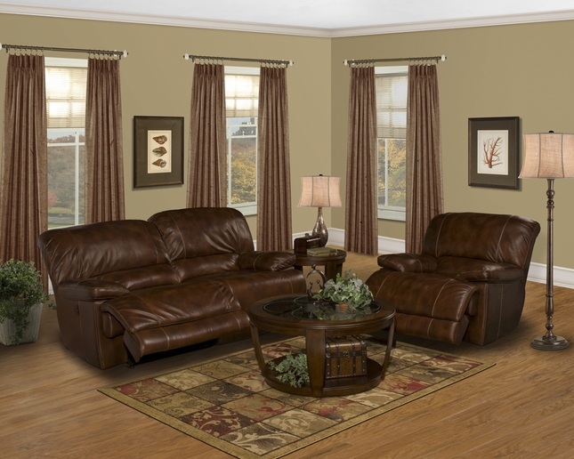 Parker Living Motion Mars Leather Power Reclining Sofa Set Color: Coffee