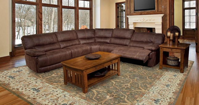 Parker Living Pegasus Reclining Sectional Sofa in Dark Kahlua Fabric