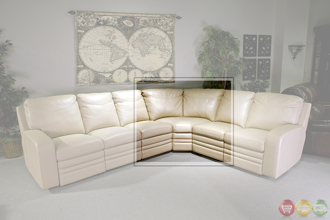 Parker Living Steinbeck Cream Top Grain Leather Sectional