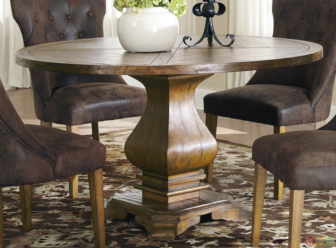 parkins round pedestal table dining room set