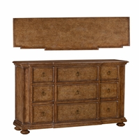 Pavilion 9-Drawer Pine Breakfront Dresser In Coastal Barley Finish