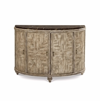 Pavilion Coastal Accent Door Chest with Marble and Gypsum Finish