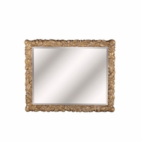 "Pavilion Coastal Beveled Mirror With Floral Pine Frame, 42""x51"""