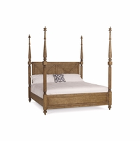 Pavilion Coastal King Tall Poster Bed In Pine Barley Finish