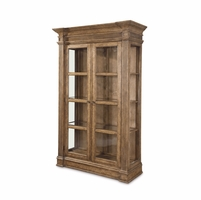 Pavilion Coastal Pine China Cabinet With Barley Finish