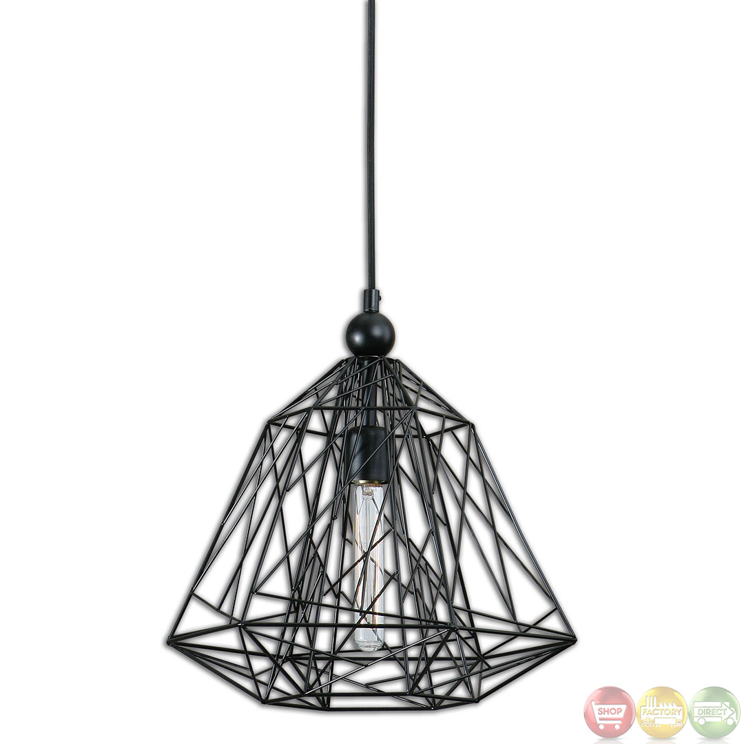 Paxton Industrial 1 Light Geometric Pendant 22020