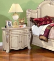 Penelope Antique White Traditional Bedroom Furniture Collection Leather & Marble