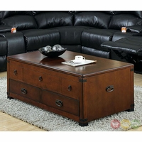 Pine Hurst Cherry Accent Tables with 3-Drawer Coffee Table CM4333