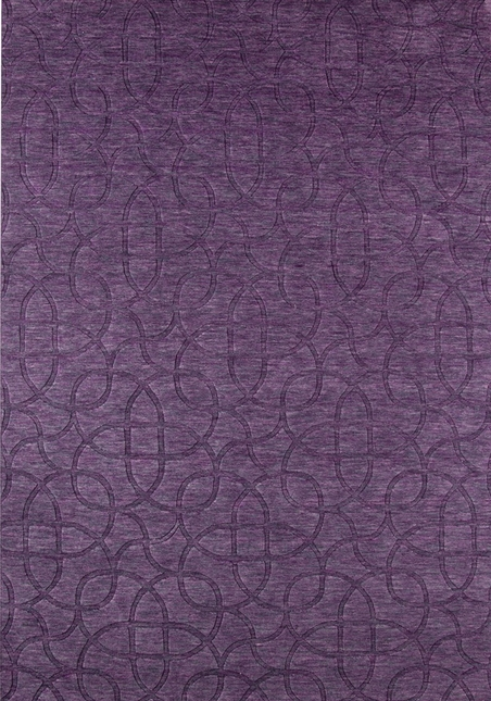 Rizzy Rugs Plum Solid Hand Loomed Area Rug Uptown UP2454