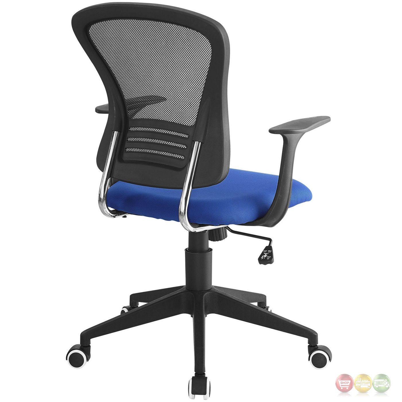 modern ergonomic mesh back office chair with lumbar support blue