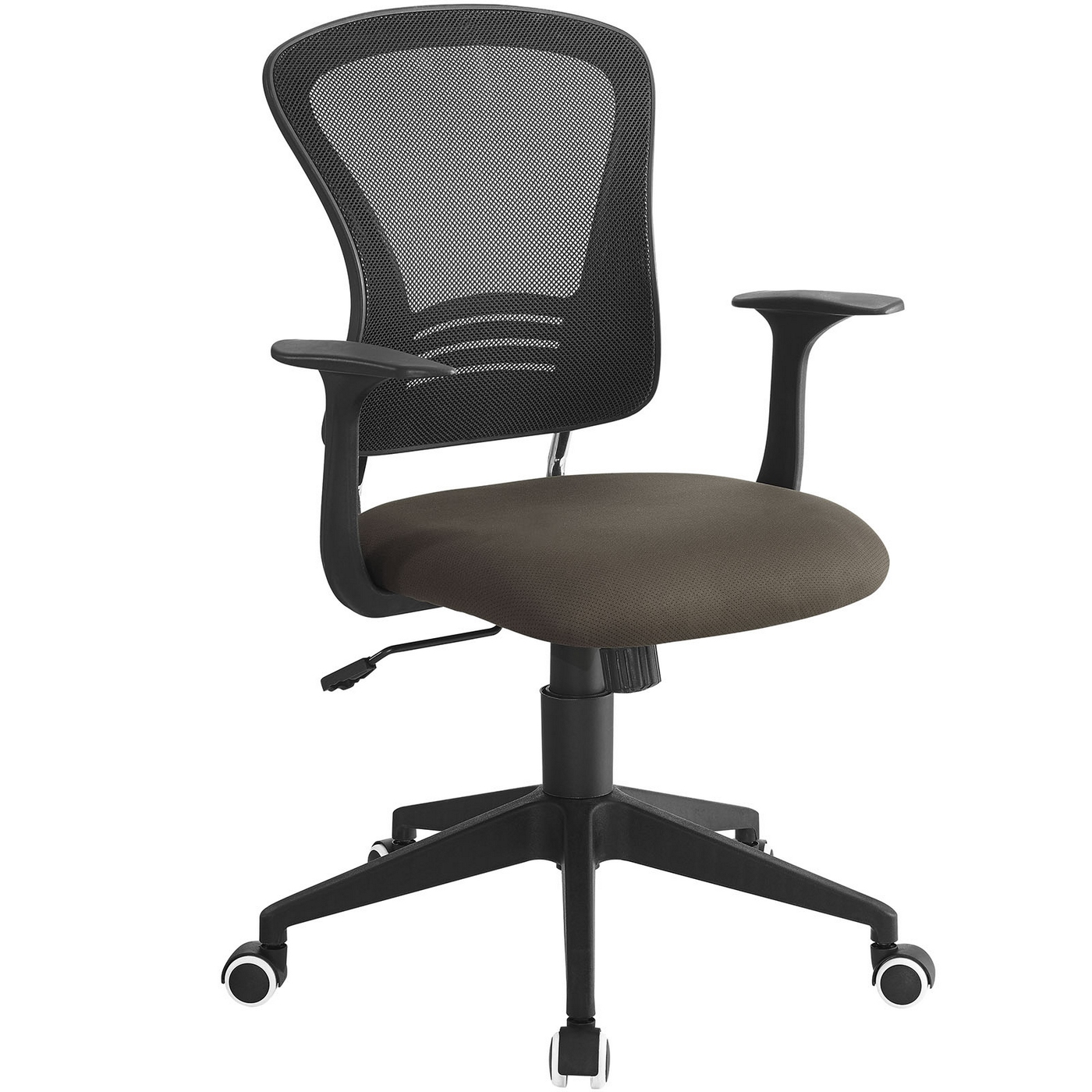 modern ergonomic mesh back office chair with lumbar support brown