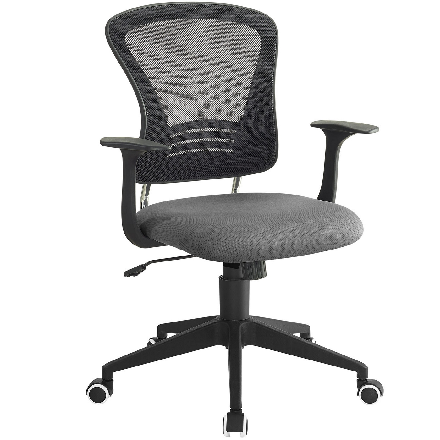 Poise Modern Ergonomic Mesh Back Office Chair With Lumbar Support Gray
