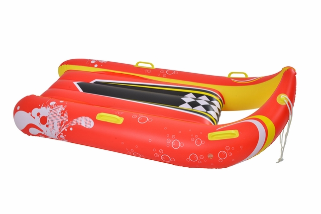 Power Glider 2 Person Heavy-Duty Inflatable Snow Sled with Handles