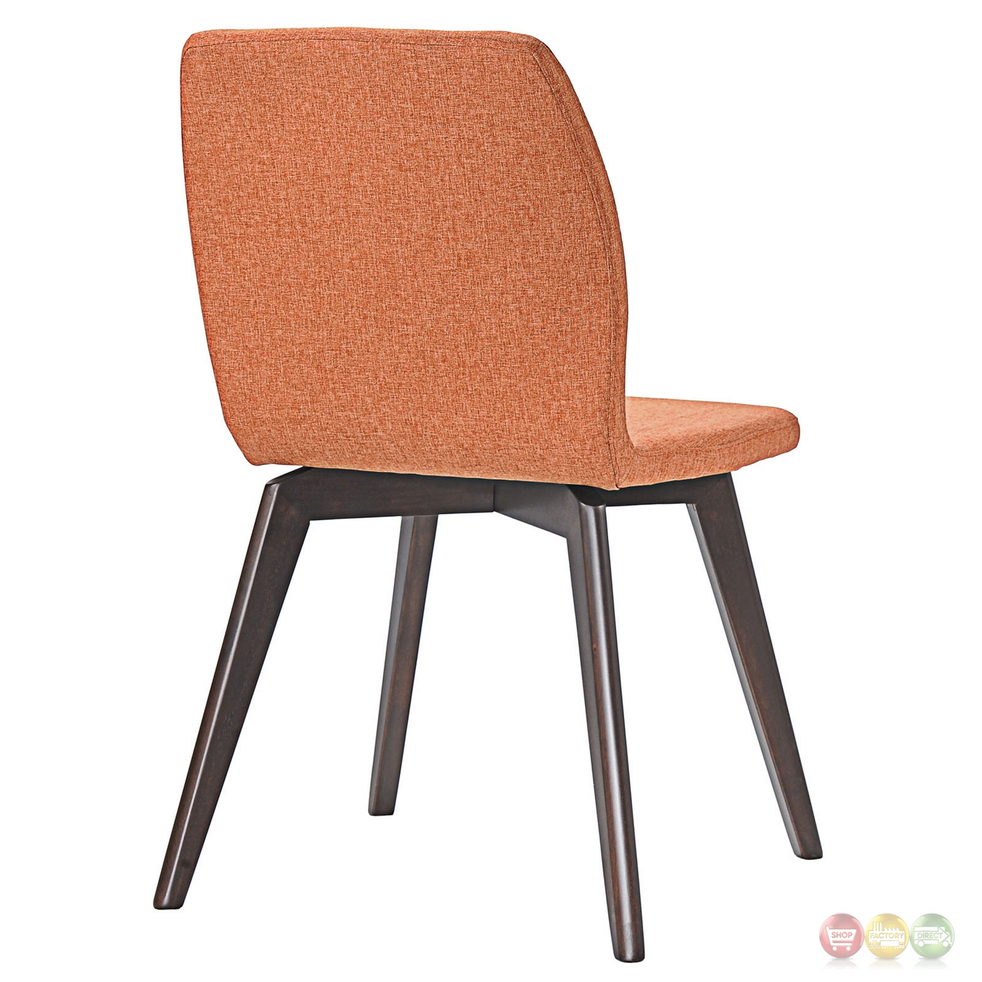 Wonderful image of Proclaim Modern Upholstered Wooden Dining Side Chair Walnut Orange with #A75924 color and 1400x1400 pixels