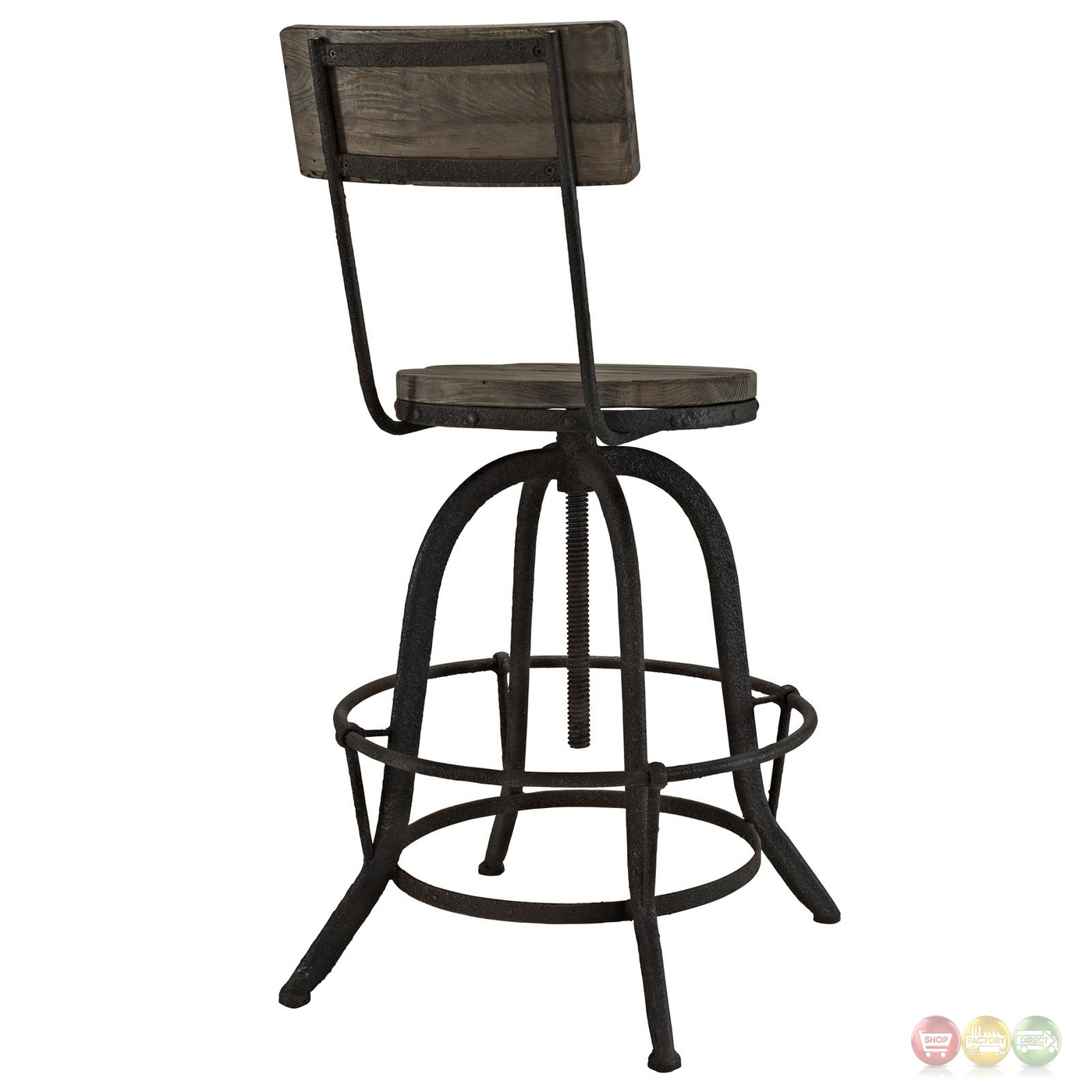 Procure Industrial Modern Wood Bar Stool With Cast Iron