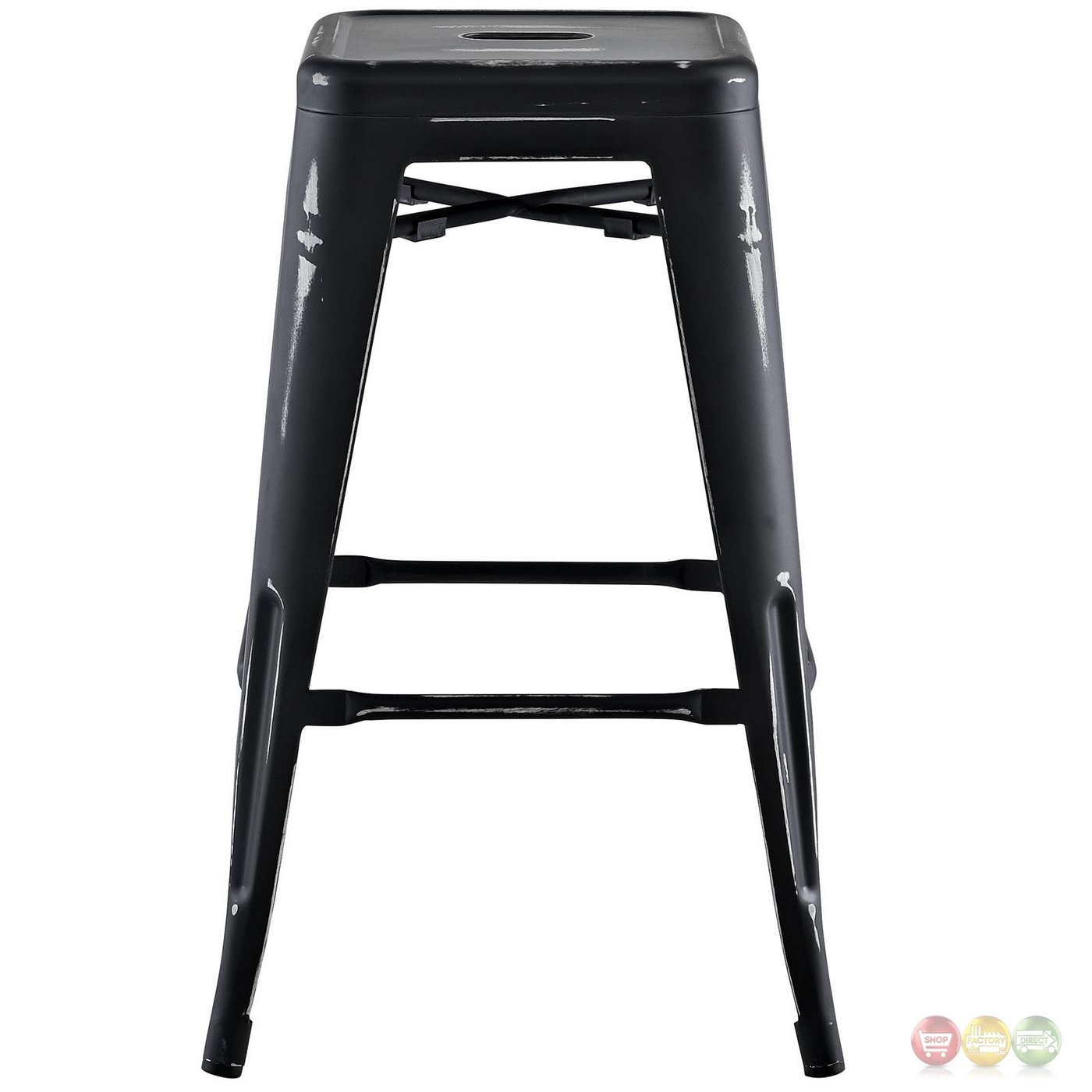 Promenade Vintage Steel Counter Height Stool W Distressed