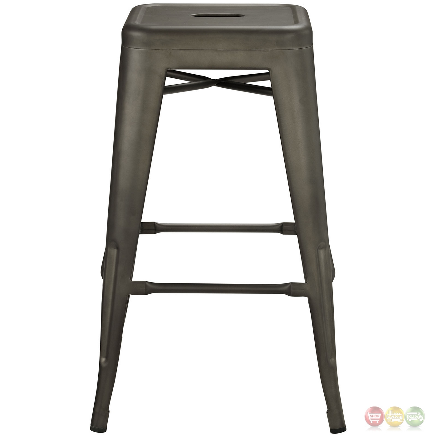 promenade vintage steel counter height stool w distressed finish