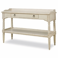 Provenance Country Cottage Sofa Table with Center Drawer