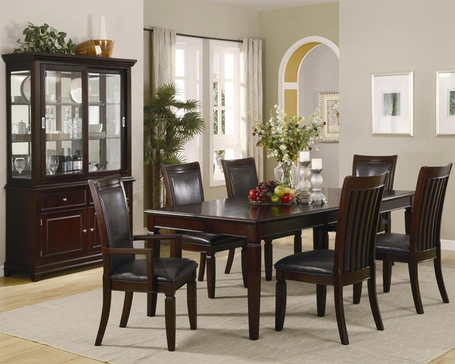 Ramona 7 Piece Walnut Finish Casual Dining Room Set