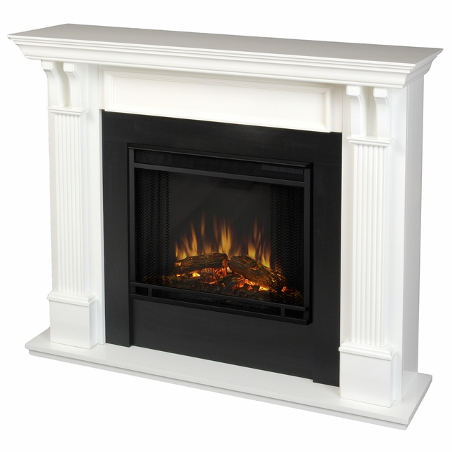 Real Flame Ashley Indoor Electric Fireplace in White