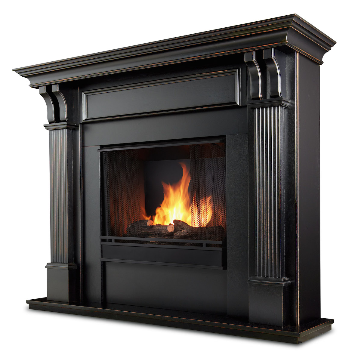 Ventless Fireplace: Real Flame Ashley Indoor Ventless Gel Fireplace In Black Wash