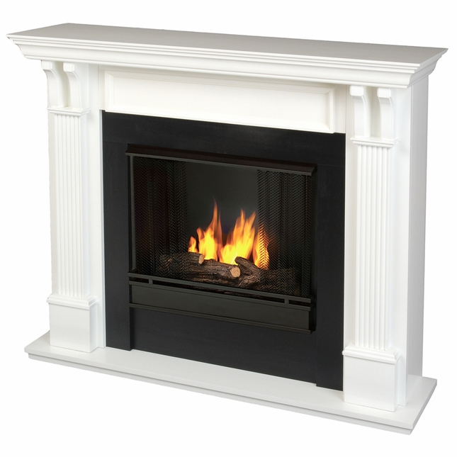 Real Flame Ashley Indoor Ventless Gel Fireplace in White