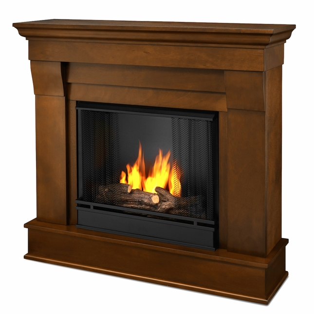 Real Flame Chateau Ventless Gel Fireplace in Espresso