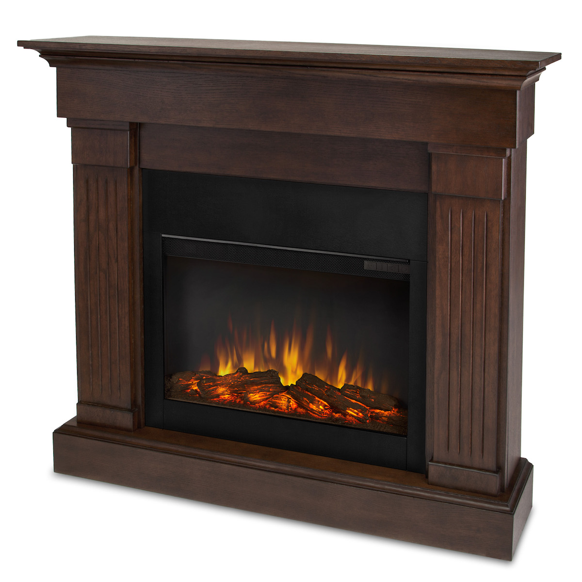real flame crawford slim line electric fireplace in