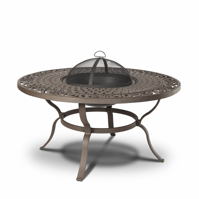 Real Flame Florence Wood Burning Outdoor Fire Pit Table
