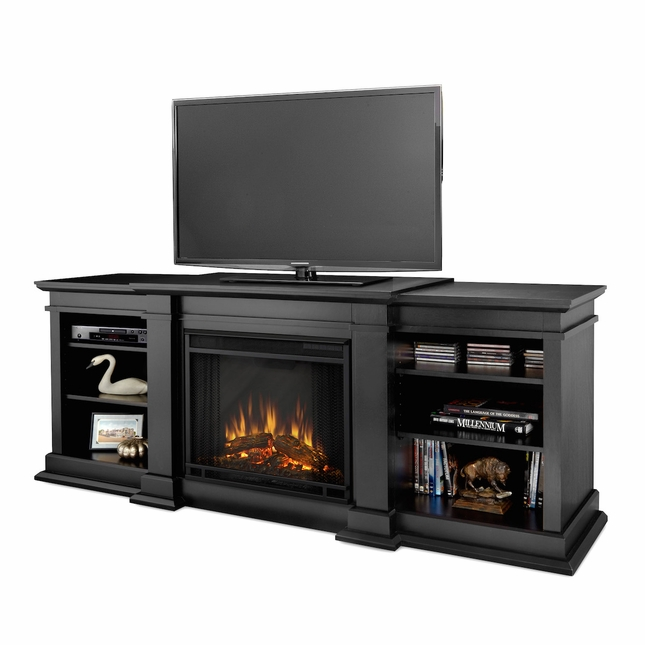 Real Flame Fresno Electric Fireplace in Black