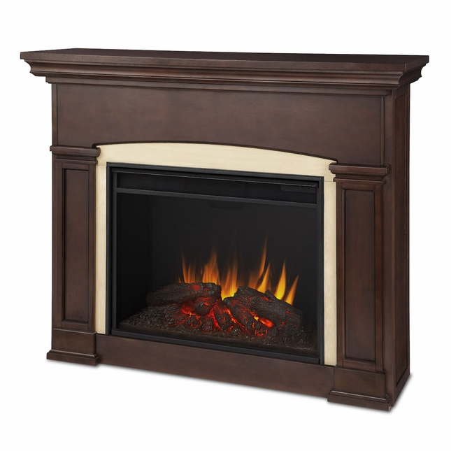 Real Flame Holbrook Grand Electric Fireplace in Dark Walnut