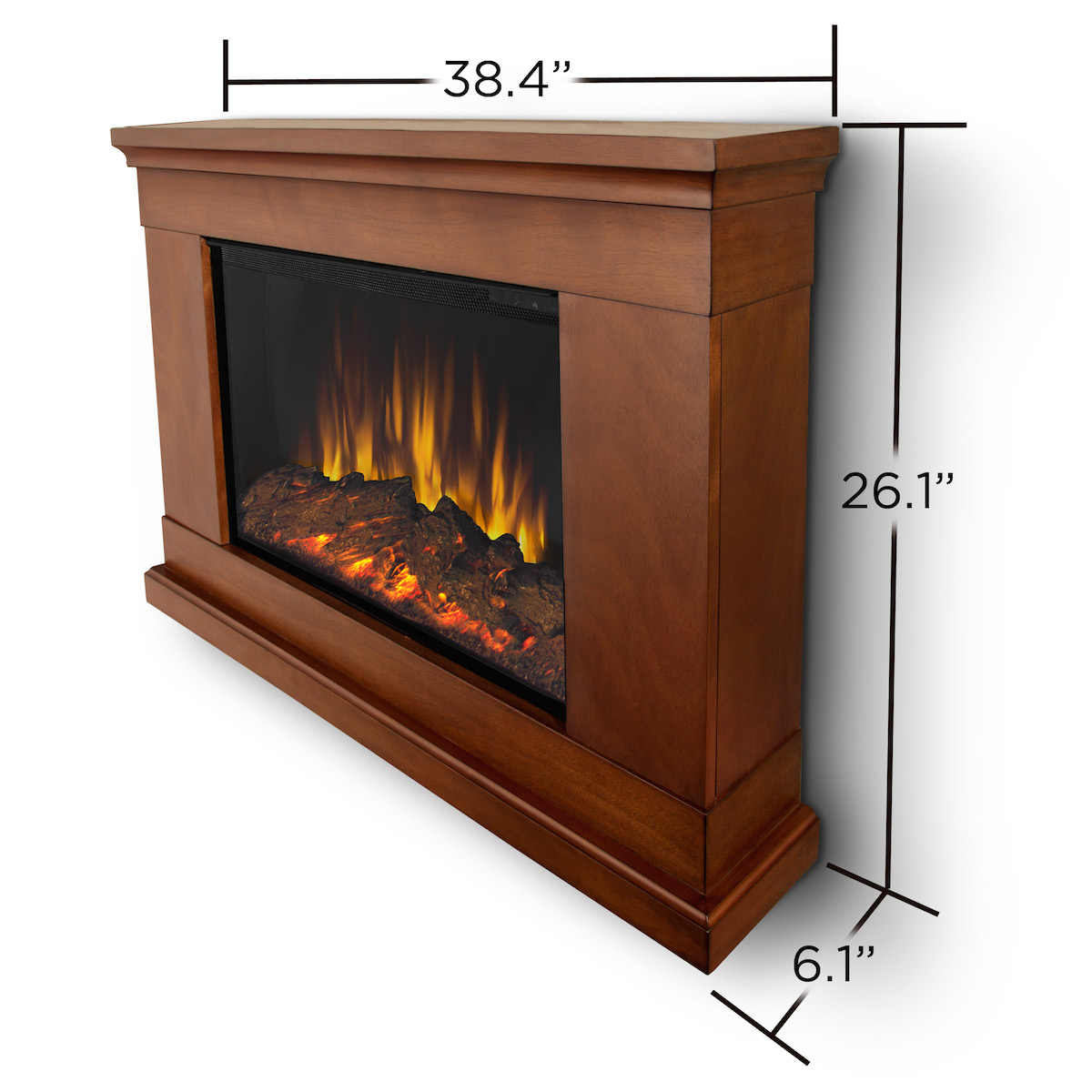 real flame jackson slim line wall hung electric fireplace