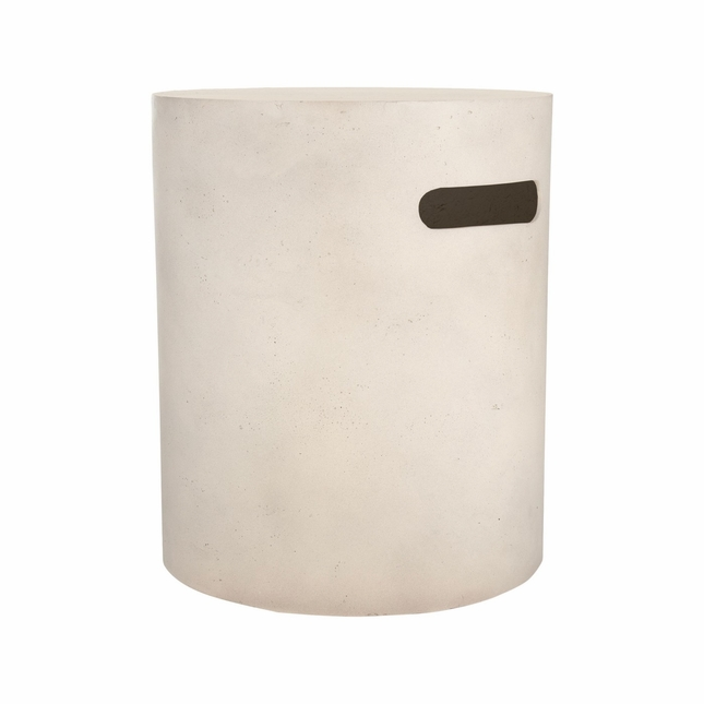 Real Flame Mezzo Round Tank Cover in Antique White