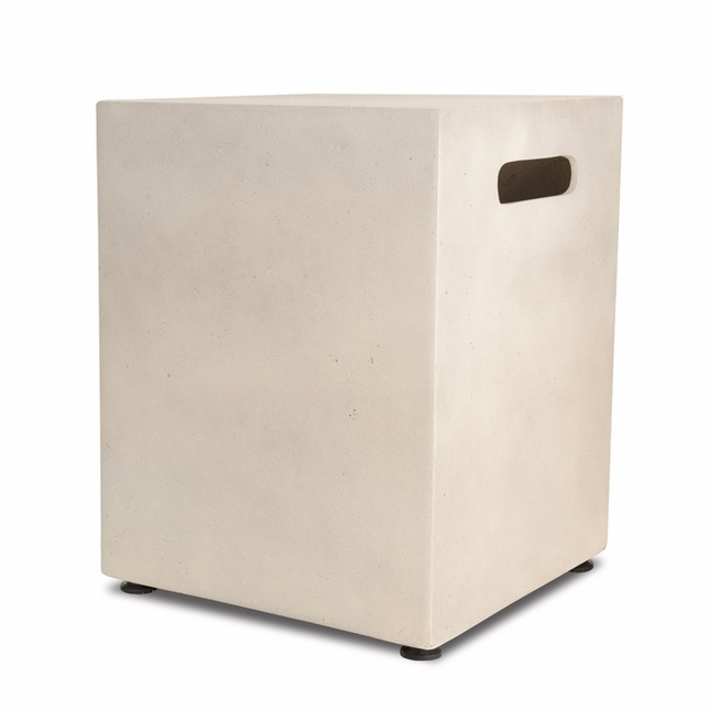 Real Flame Mezzo Square Tank Cover in Antique White