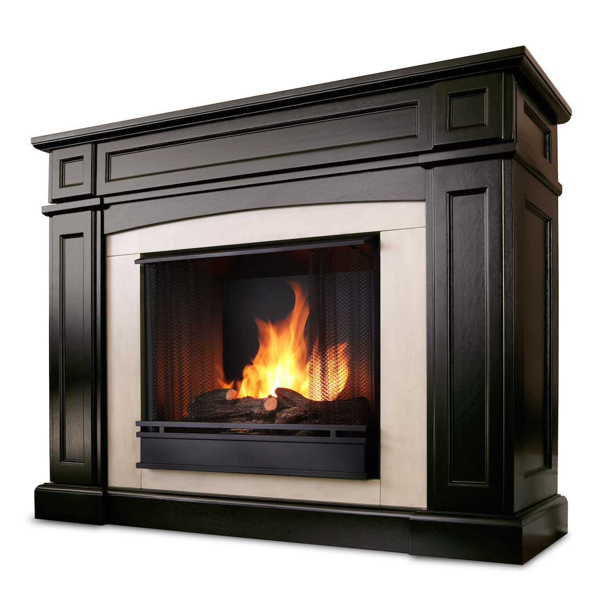 Ventless Fireplace: Real Flame Rutherford Ventless Gel Fireplace In Dark Walnut