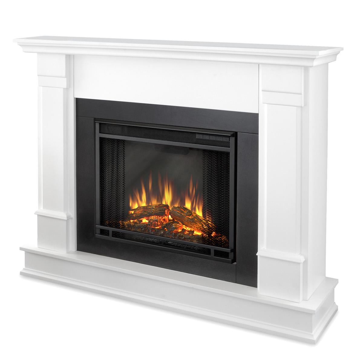 real silverton electric fireplace in white