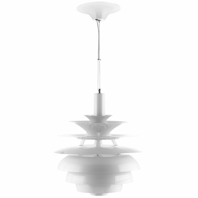 "Rebound Modern 17"" ""blooming"" Stainless Steel Pendant Chandelier, White"