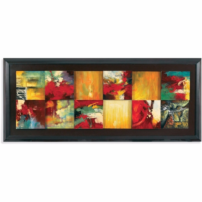 Red Abstract Contemporary Canvas Wrap 7200-766EC
