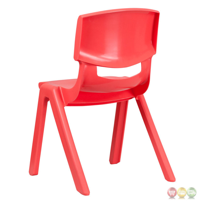 red plastic stackable school chair with 15 5 inch seat height yu ycx