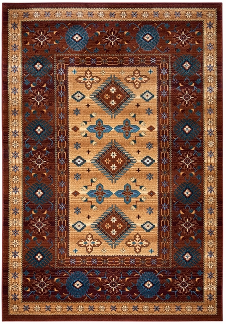 Rizzy Rugs Red Southwest Power Loomed Area Rug Bellevue BV3709