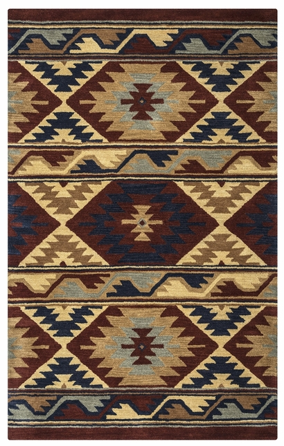 Rizzy Rugs Red Southwest Hand Tufted Area Rug Southwest SU2253