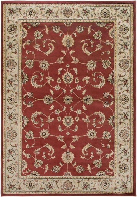 Rizzy Rugs Red Traditional Power Loomed Area Rug Bayside BS3579