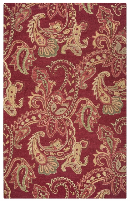 Rizzy Rugs Red Traditional Hand Tufted Area Rug Ashlyn AL2651