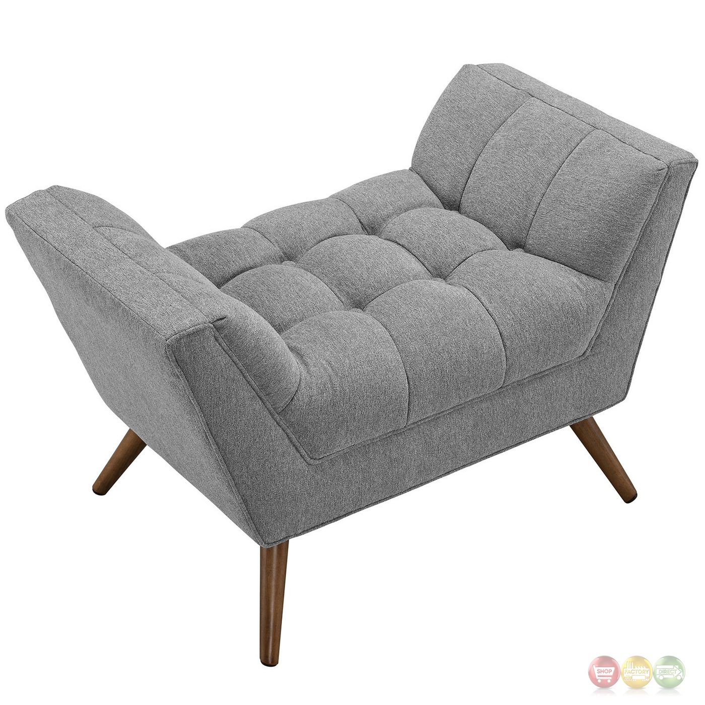 Response Contemporary Button Tufted Upholstered Ottoman