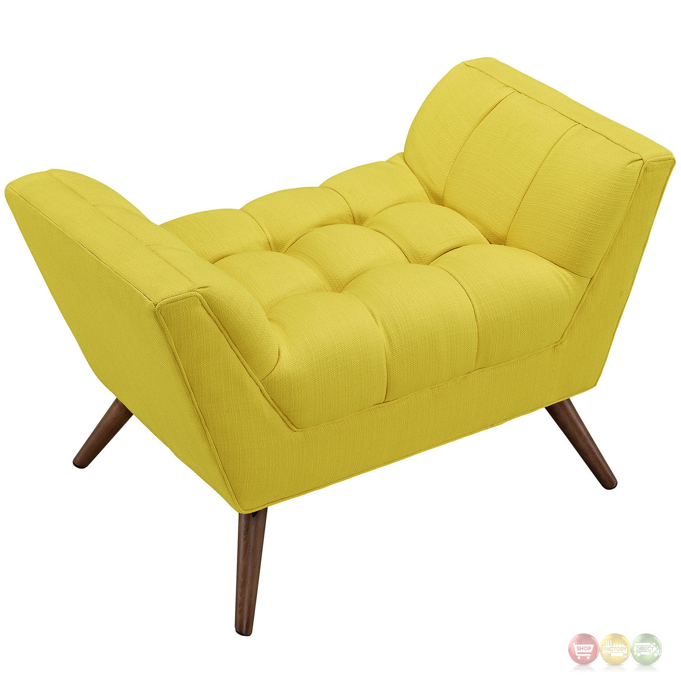 Response Contemporary Button-tufted Upholstered Ottoman, Sunny