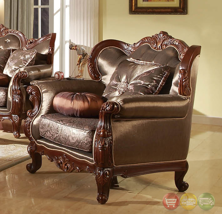 rhapsody traditional dark wood formal living room sets with carved