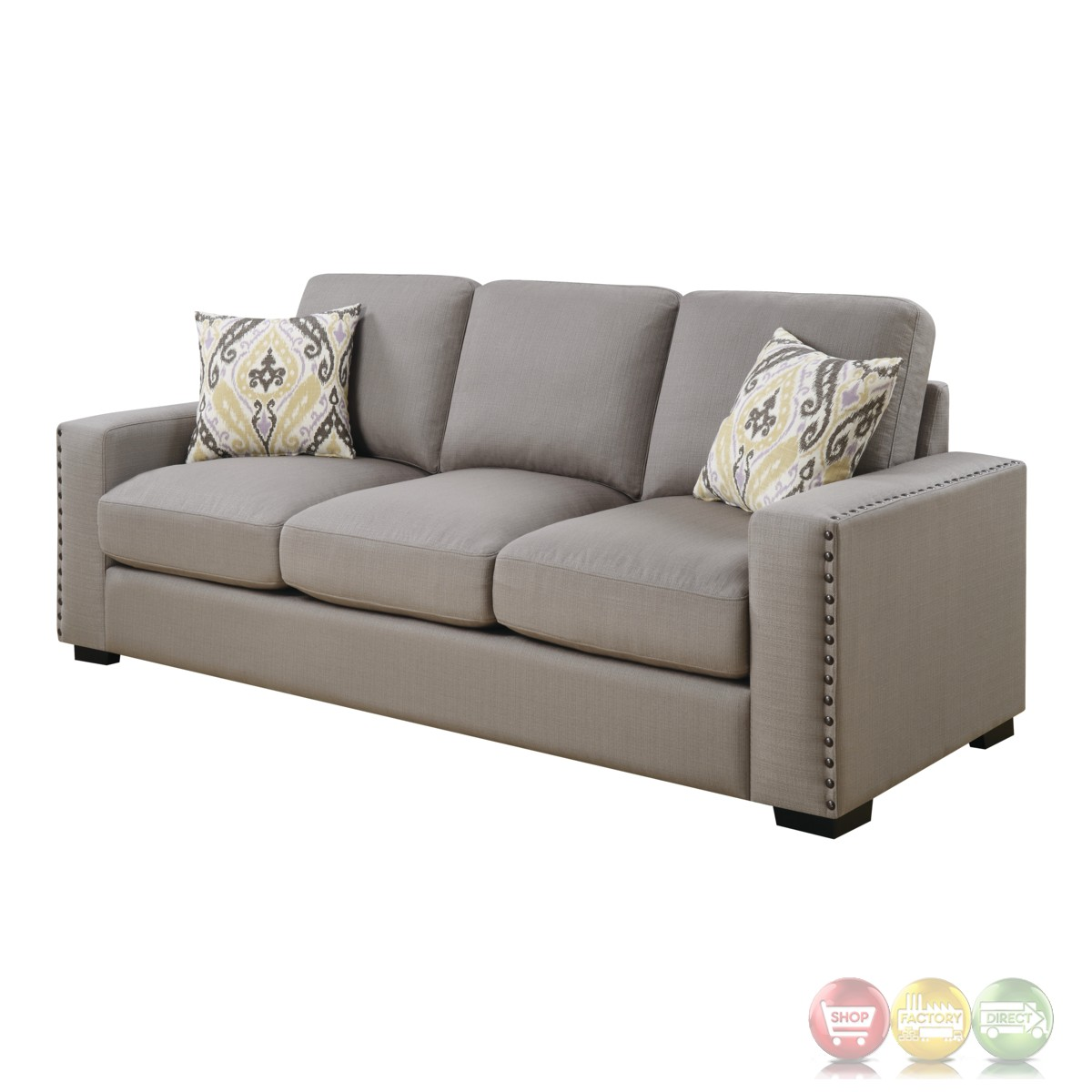 Rosanna Plush Grey Linen Sofa With Nailhead Trim. Outdoor Chandeliers. Vintage Bathrooms. Cortec Flooring. Kitchen Ceiling Ideas. Behr Wheat Bread. Small Kitchen Remodeling Ideas. Cool Kids Beds. Feng Shui Rules