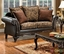 Rotherham Traditional Dark Brown Living Room Set with Pillows SM7630